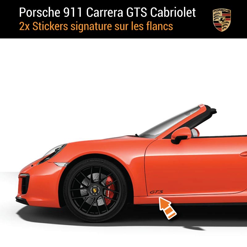 Kit Stickers Flancs Porsche 911 Carrera GTS Cabriolet