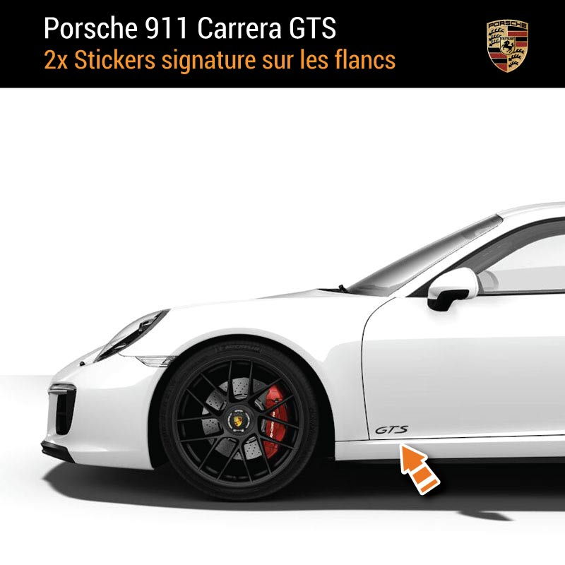 Kit Stickers Flancs Porsche 911 Carrera GTS