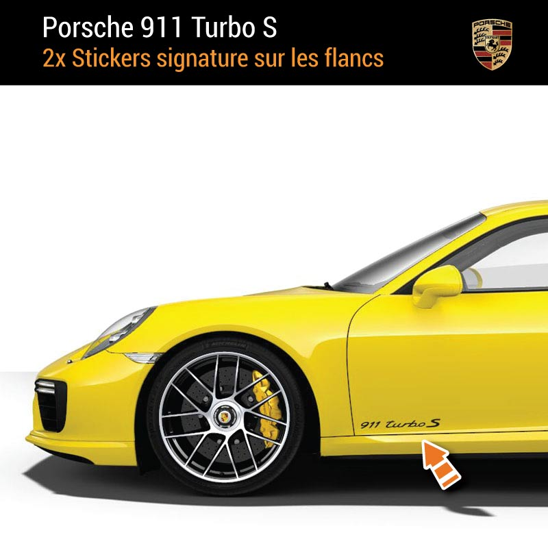 Kit Stickers Flancs Porsche 911 Turbo S