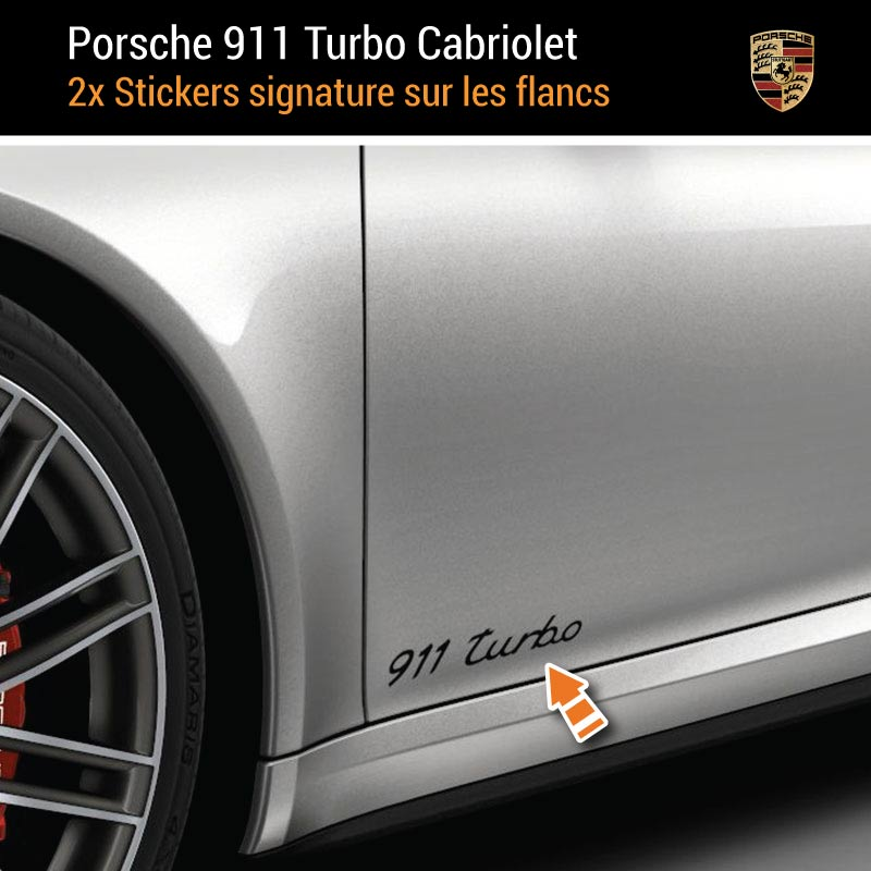 Kit Stickers Flancs Porsche 911 Turbo Cabriolet