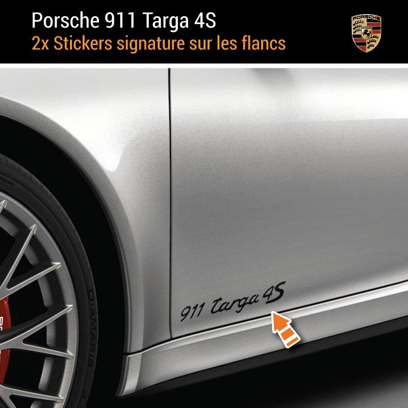 Kit Stickers Flancs Porsche 911 Carrera Targa 4S