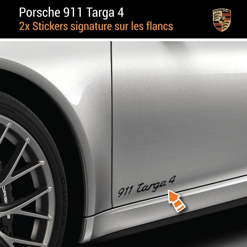 Kit Stickers Flancs Porsche 911 Carrera Targa 4