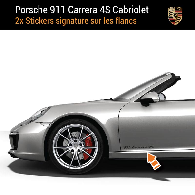 Kit Stickers Flancs Porsche 911 Carrera 4S Cabriolet