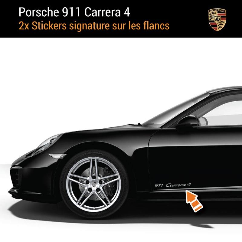 Kit Stickers Flancs Porsche 911 Carrera 4