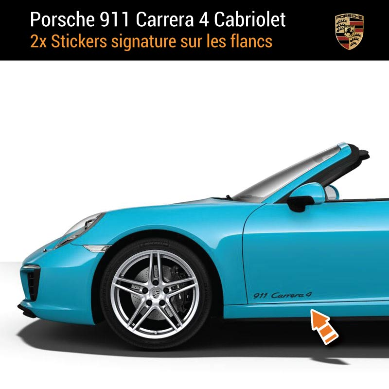 Kit Stickers Flancs Porsche 911 Carrera 4 Cabriolet