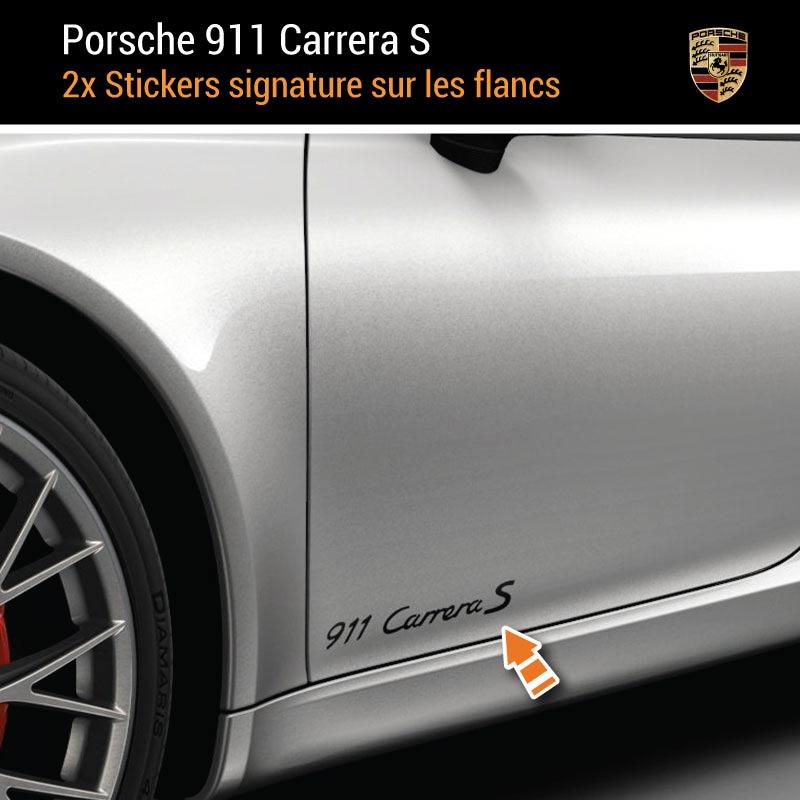 Kit Stickers Flancs Porsche 911 Carrera S Cabriolet