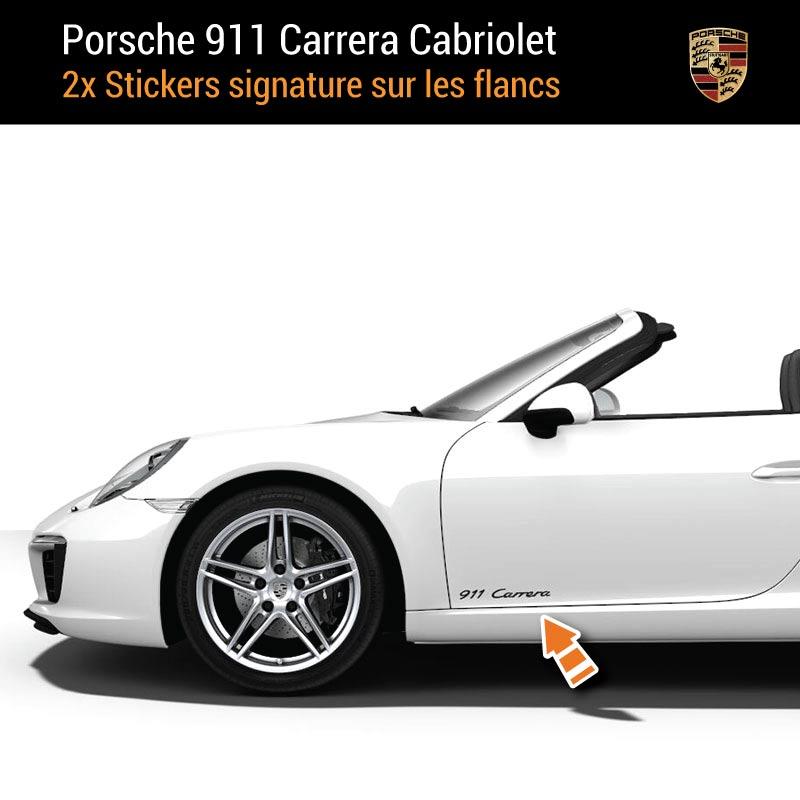 Kit Stickers Flancs Porsche 911 Carrera Cabriolet