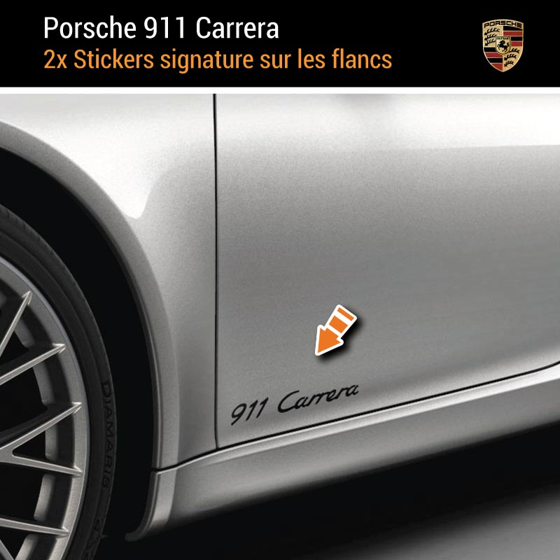 Kit Stickers Flancs Porsche 911 Carrera