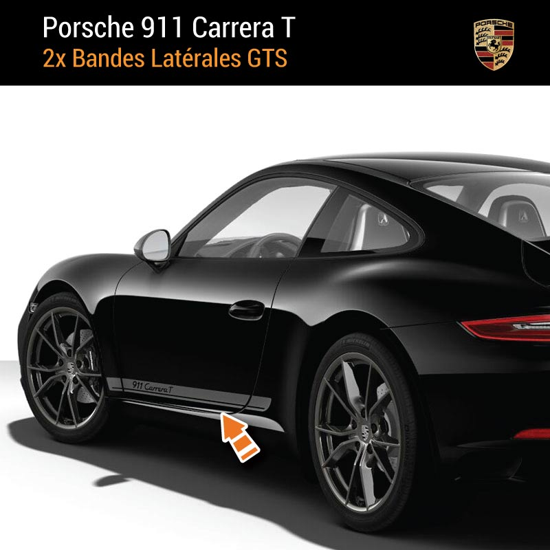 Kit Stickers Bandes Latérales Porsche 911 Carrera T