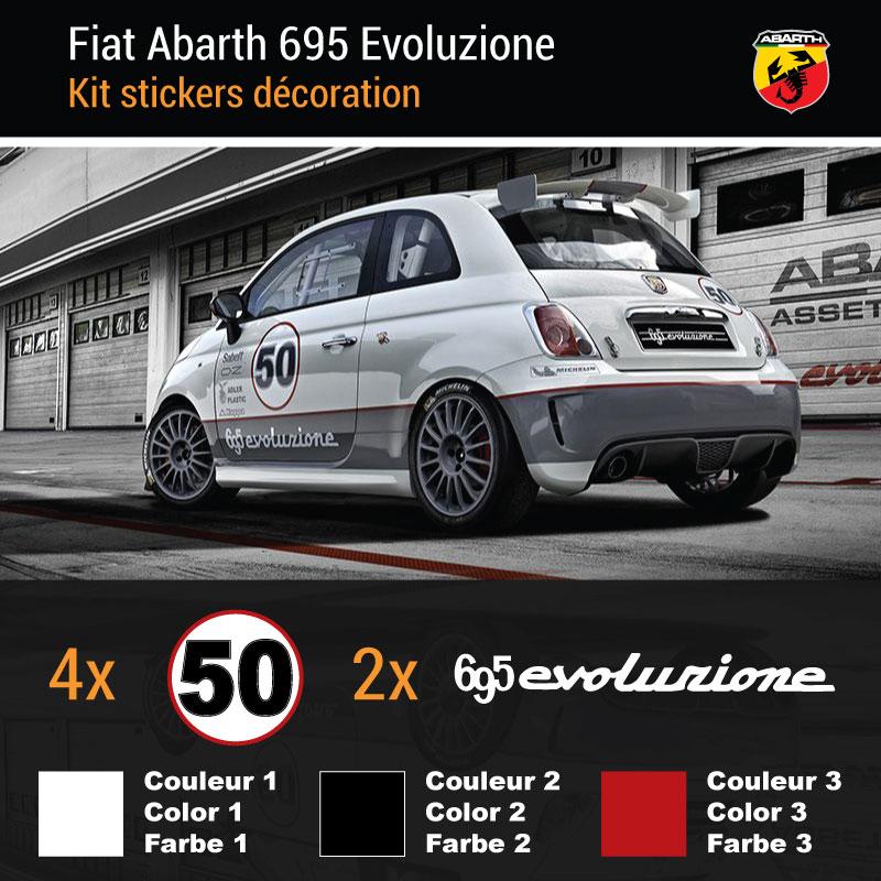 Kit Stickers Fiat Abarth 695 Evoluzione