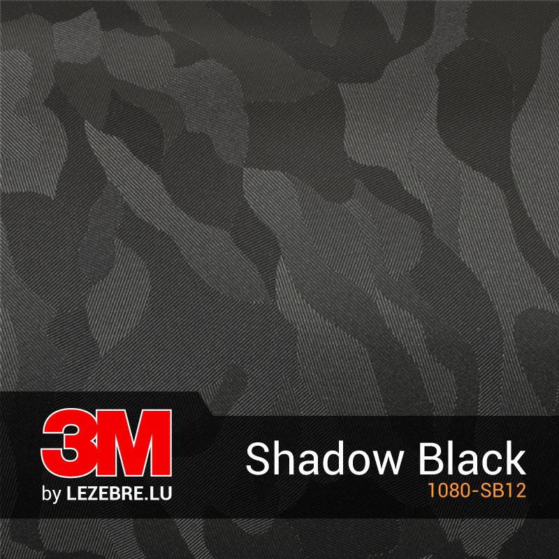 Film Covering Camouflage Shadow Black 3M™ (Noir et Gris)