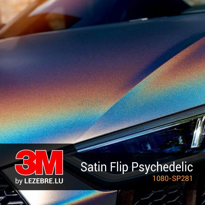 film covering satin flip psychedelic 3m. Black Bedroom Furniture Sets. Home Design Ideas