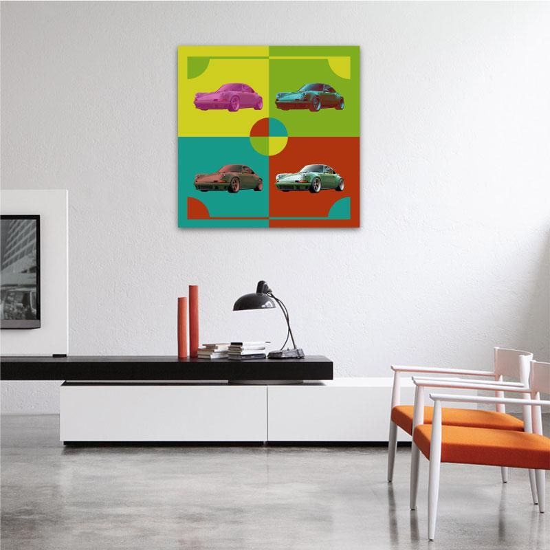 Canvas Porsche 911 Pop art