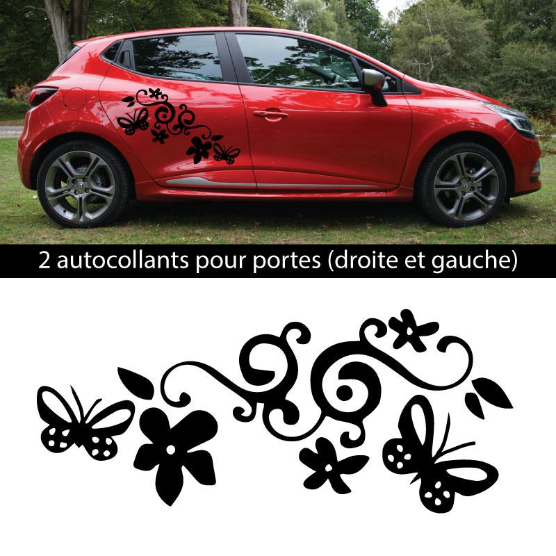 Kit Stickers Fleurs Renault Clio 2018