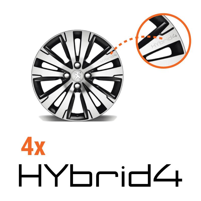 Kit Stickers Jante Peugeot 3008 HYbrid4