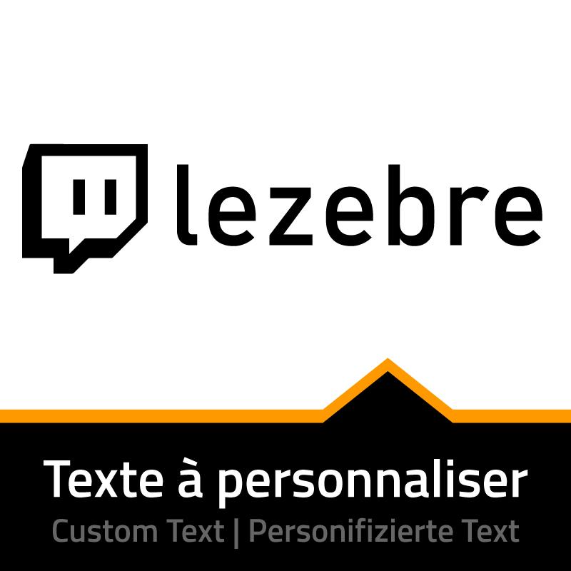 Sticker Twitch - Nom chaîne à Personnaliser