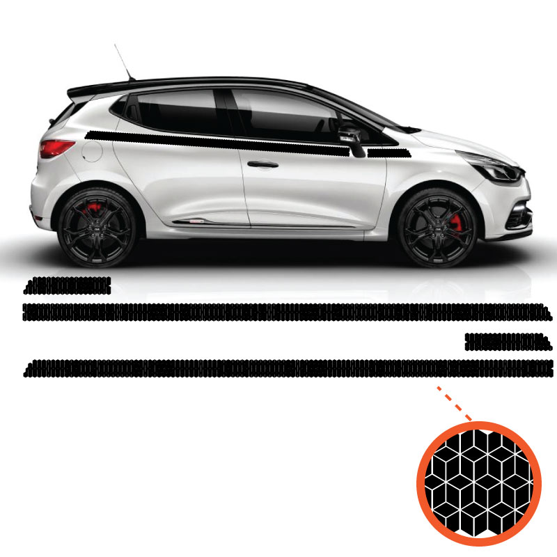 Kit Stickers Cube Ornament Renault Clio