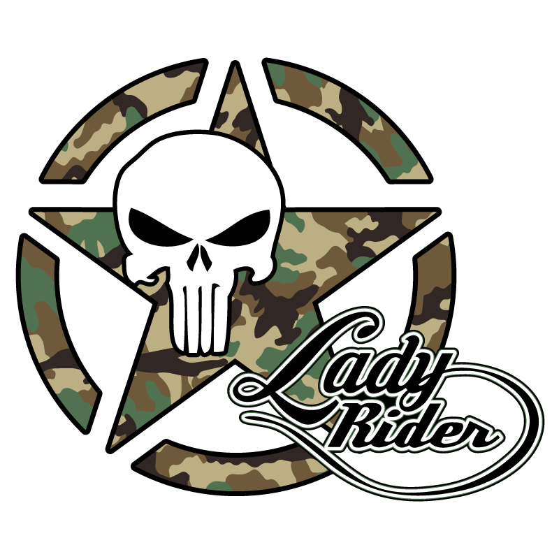 US ARMY Star Lady Rider Punisher Camouflage Decal