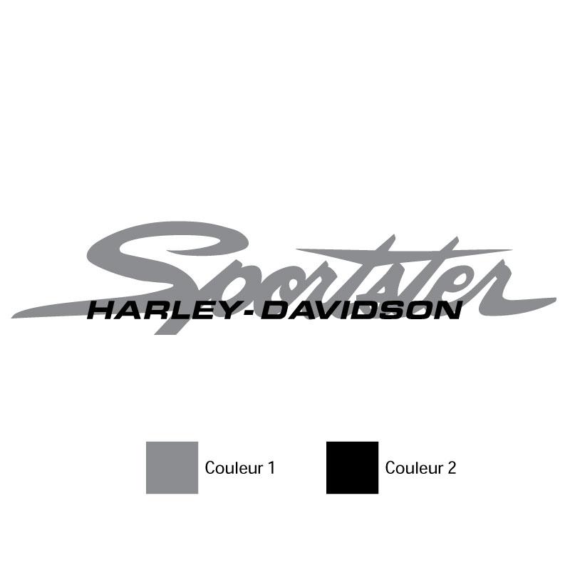 Kit de 2 Stickers Réservoir Harley Davidson Sportster