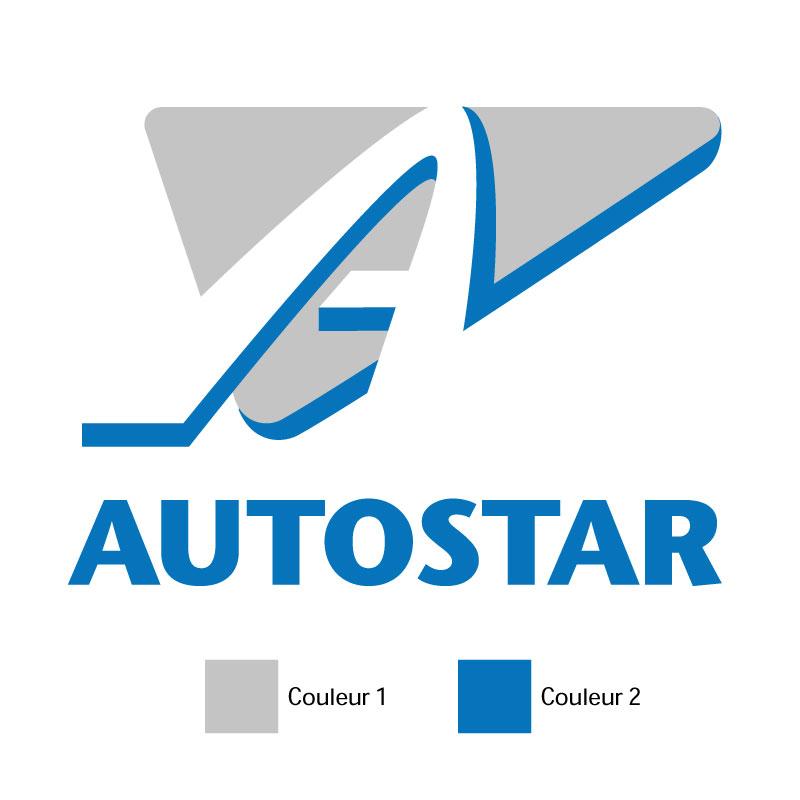 Sticker Autostar Logo 2 Couleurs