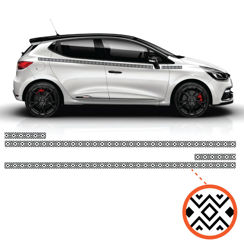 Kit Stickers Indian Ornament Renault Clio