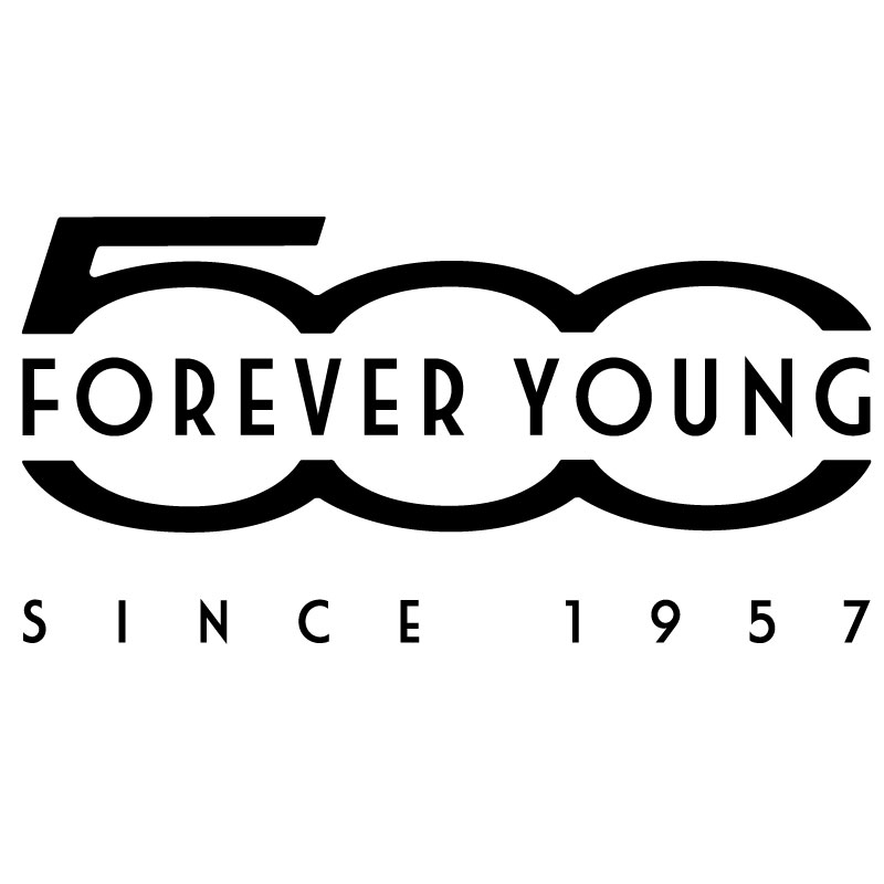 Fiat 500 * Forever Young Decal