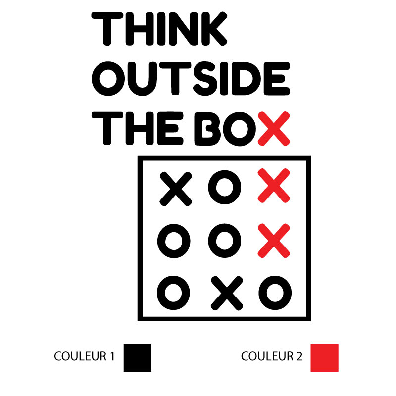 Sticker Think Outside The Box