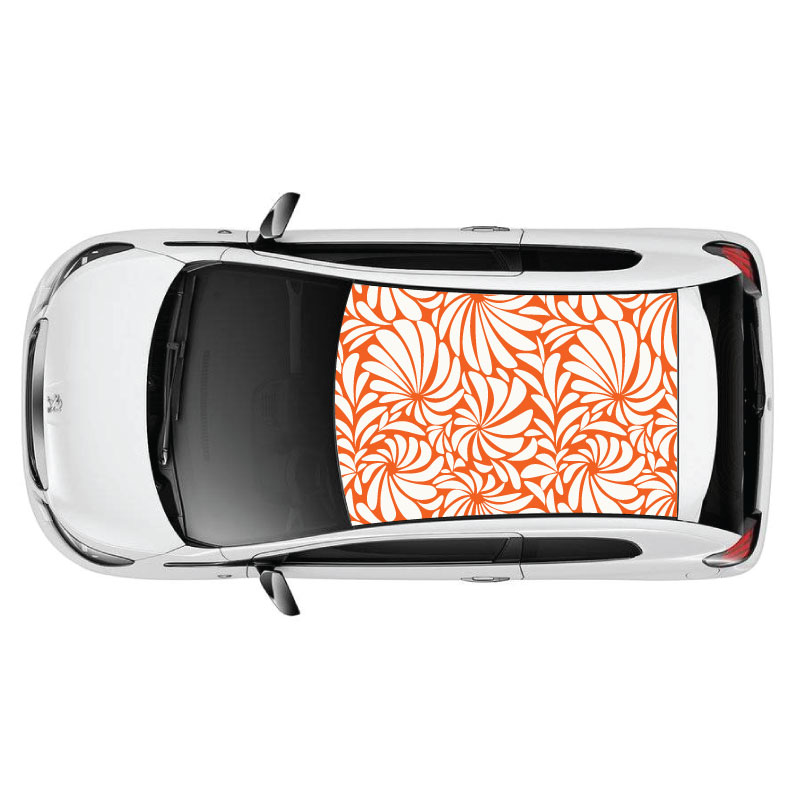 Flowers Pattern Car Roof Sticker
