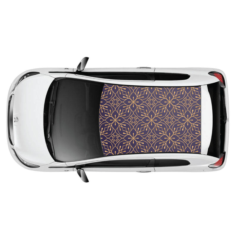 Classy Pattern Car Roof Sticker