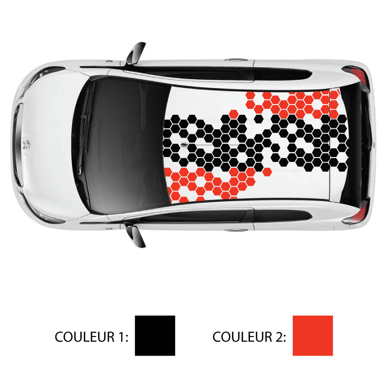 Car Roof Hive Colors Stripe Decal
