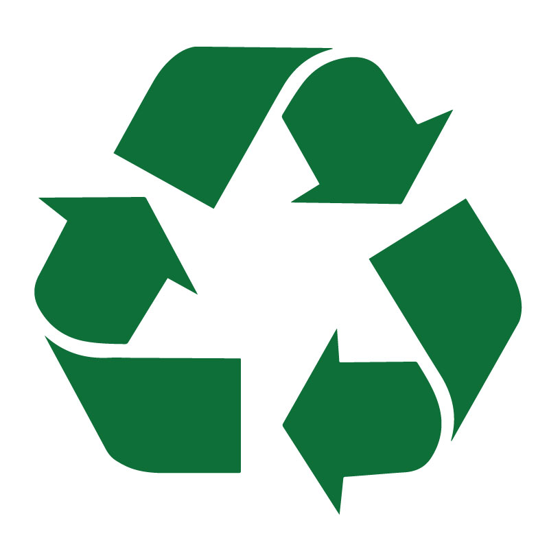 Recycling Symbol Decal