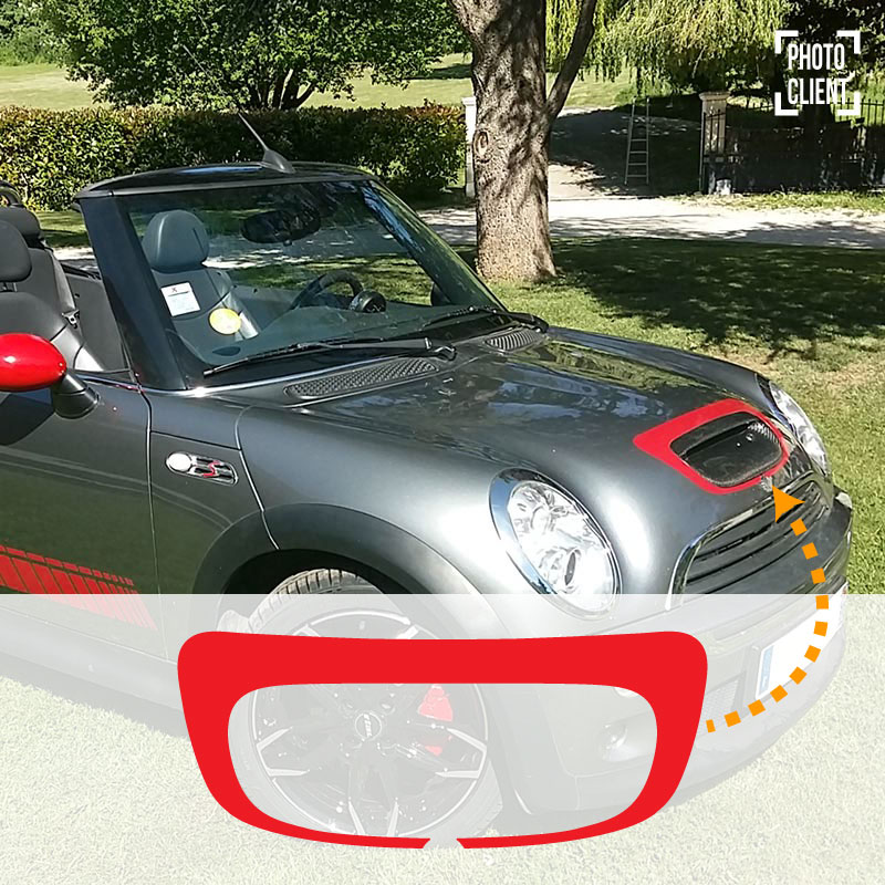 Mini S Convertible 2007 Hood Decal