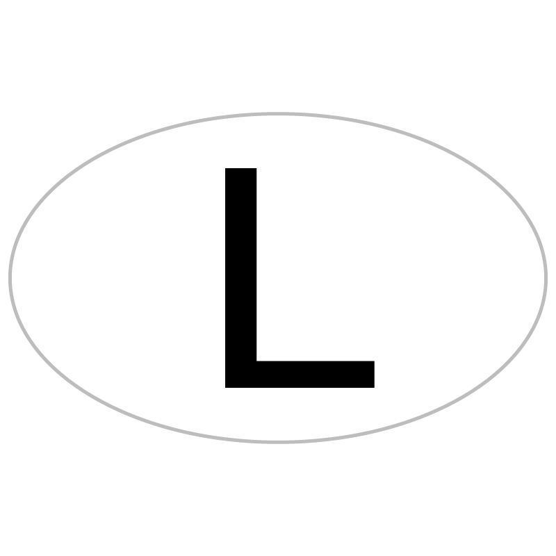 """L"" Car License Plate Luxembourg Decal"