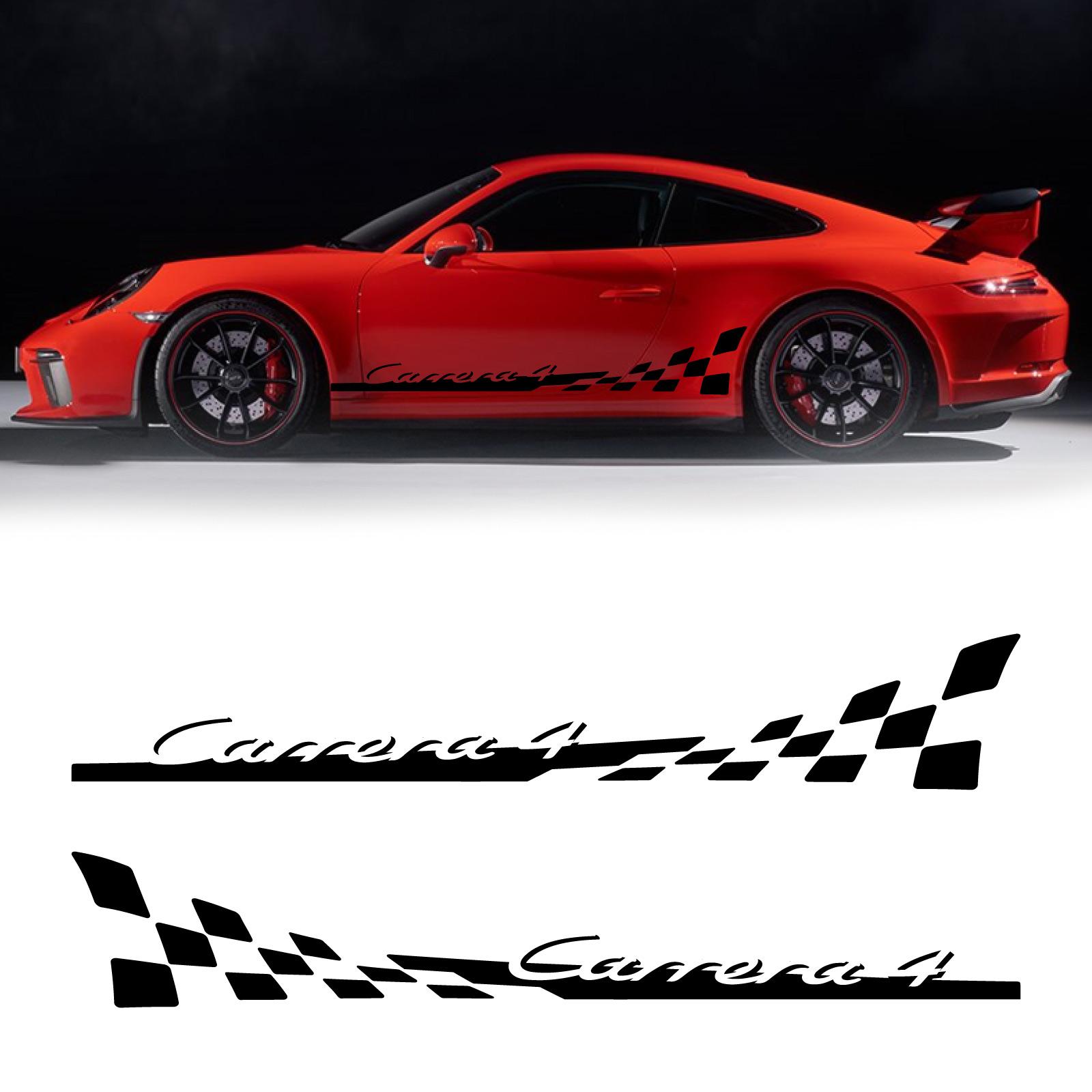 Porsche 911 Carrera 4 Car Stripes Decals