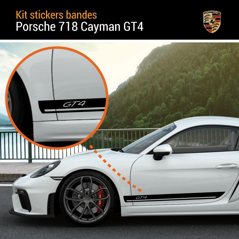 Porsche 718 Cayman GT4 Stripes Decals Set