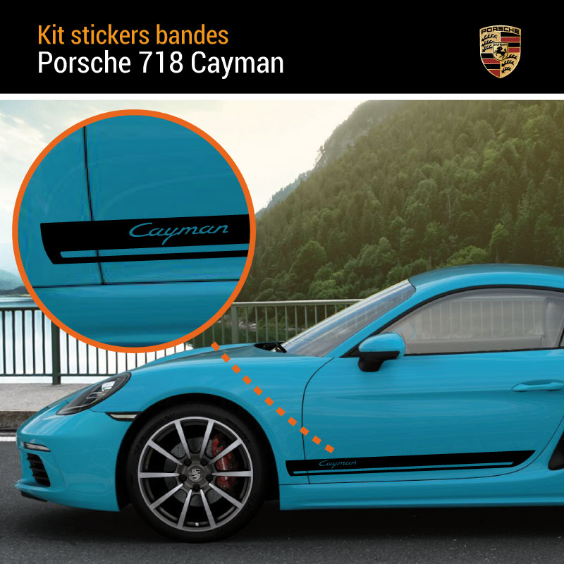 Porsche 718 Cayman Stripes Decals Set