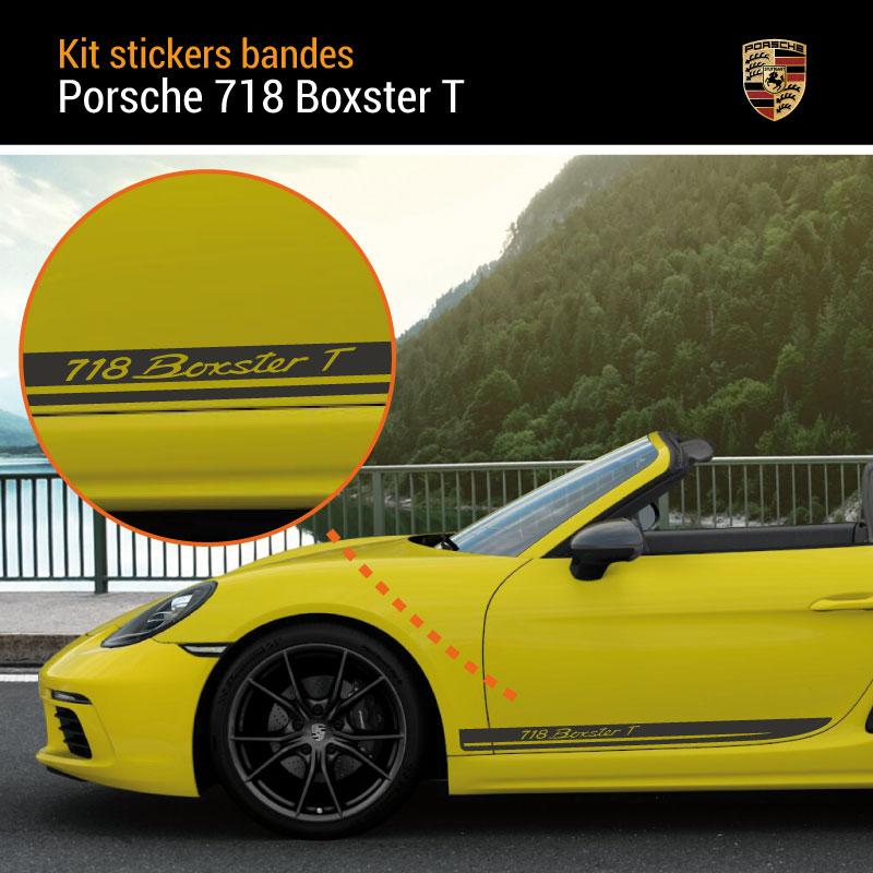 Porsche 718 Boxster T Stripes Decals Set