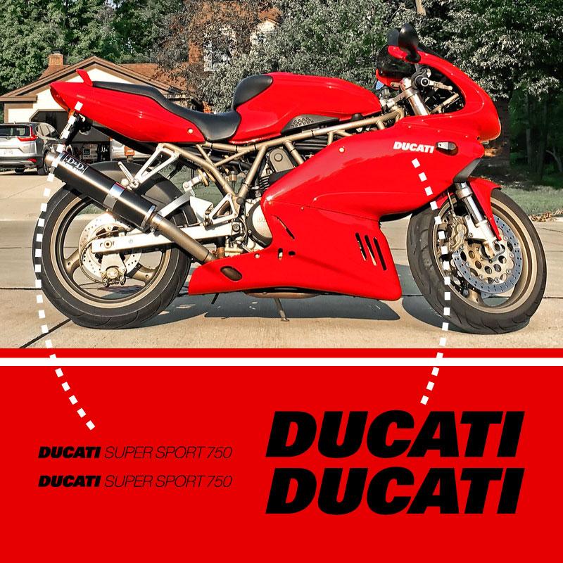 Ducati Supersport 750 Decals Set