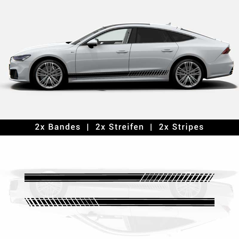 Audi A7 / S7 Abarth Style Stripes Decals [CLONE]