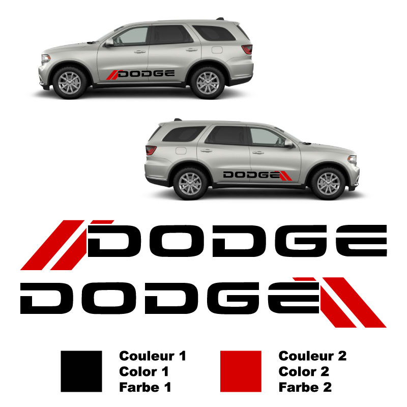 Set of 2 Dodge Decals