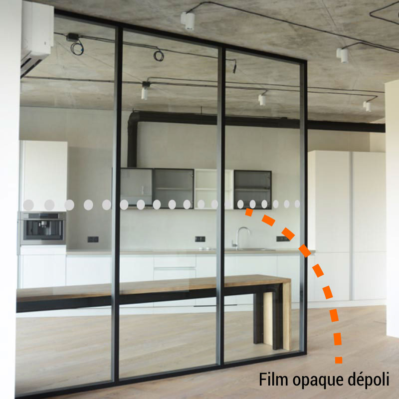 Dotted film for windows Decal