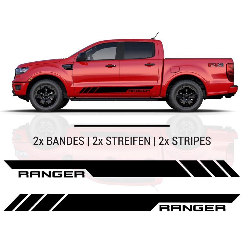 Ford Ranger Side Stripes Decals Set