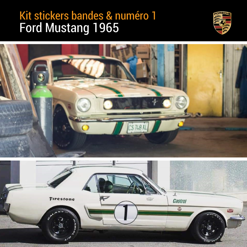 Ford Mustang 1965 Vintage Decals Set