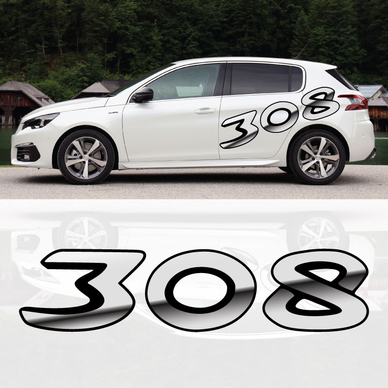 Peugeot 308 3D Effect Decal