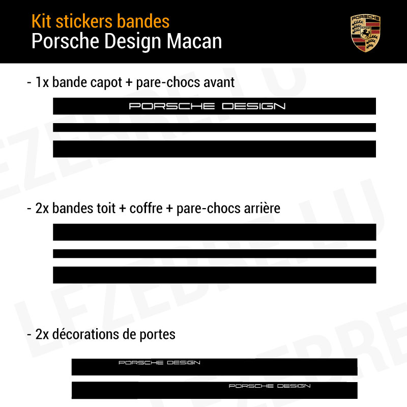 Porsche Design Macan Stickers Set