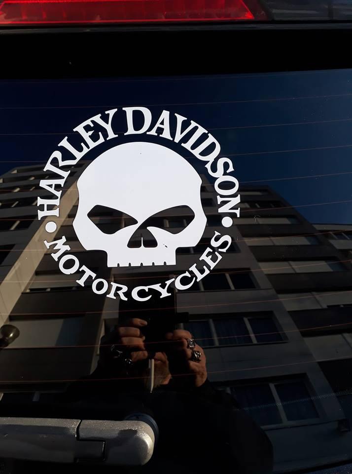 Harley Davidson Skull Decal