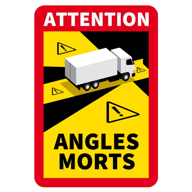 Sticker Attention Danger Angles Morts Camion