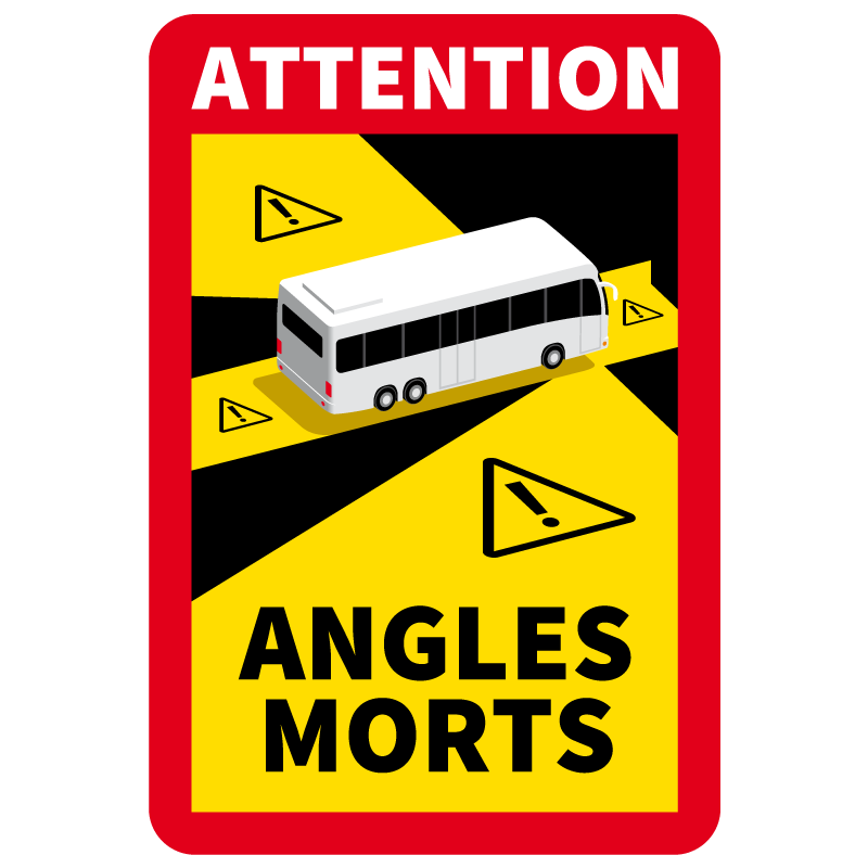 Sticker Attention Danger Angles Morts Bus