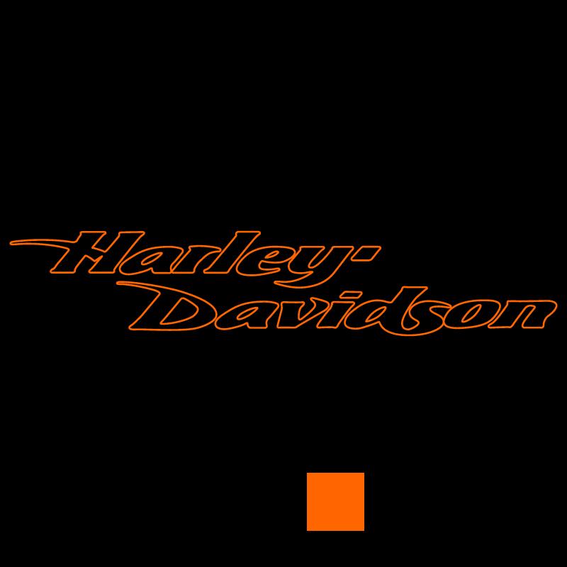 Harley Davidson Bicolor Decal
