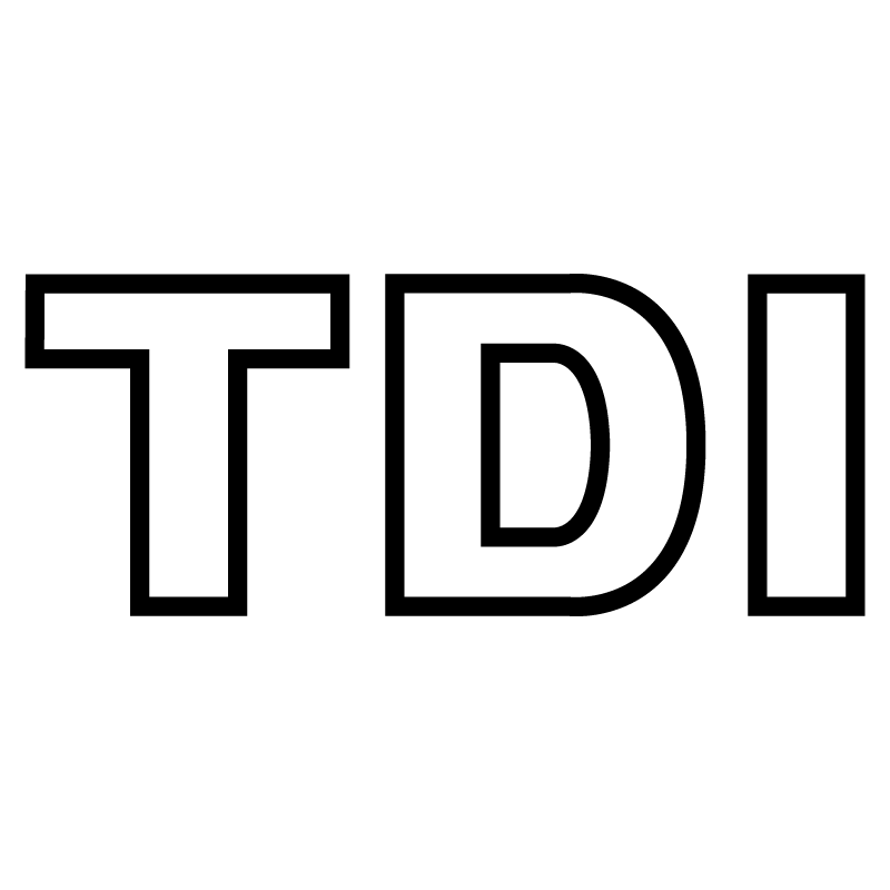 VW Volkswagen TDI Logo Outline Decal